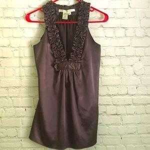Max Studio purple dressy sleeveless top S